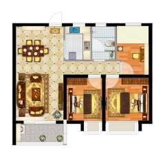 (城东)万达广场2室2厅2卫128m²毛坯房