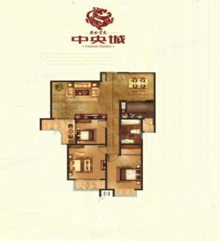 3室2厅1卫120m²